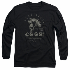 CBGB Shirt The Electric Skull Long Sleeve Black Tee T-Shirt