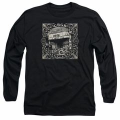 CBGB Shirt The Front Door Long Sleeve Black Tee T-Shirt