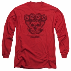 CBGB Shirt The Moth Skull Long Sleeve Red Tee T-Shirt