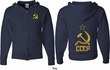 CCCP Hammer Sickle Soviet Union (Front & Back) Full Zip Hoodie