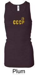 CCCP Ladies Tank Top Insignia Longer Length Racerback Tanktop