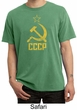 CCCP Shirt Distressed Soviet Union Adult Pigment Dyed T-shirt