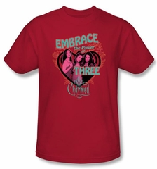 Charmed Shirt Embrace The Power Red Tee Shirt