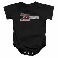 Chevy Baby Romper Camaro Z28 Logo Black Infant Babies Creeper