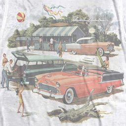 Chevy Bel Air Washed Out Classic Cars Sublimation T-shirts