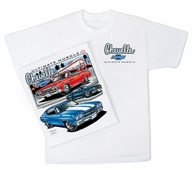 Chevy Chevelle T-Shirt - Ultimate Muscle Adult White Tee