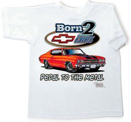 Chevy Chevelle Youth Tee Shirt - Born to Cruise Kids