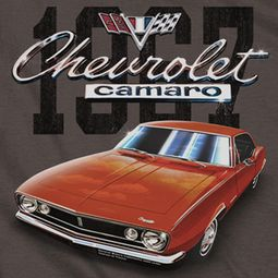 Chevy Chevrolet 1967 Red Classic Camaro T-shirts