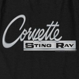 Chevy Corvette Sting Ray Chrome Logo T-shirts
