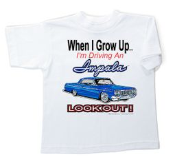 Chevy Impala Kids T-Shirt - Lookout Youth White Tee