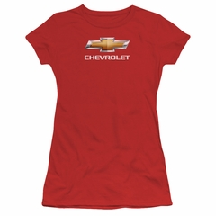 Chevy Juniors Shirt Bow Tie Red T-Shirt