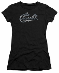 Chevy Juniors Shirt Chevrolet Script Black T-Shirt
