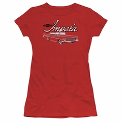 Chevy Juniors Shirt Impala Red T-Shirt