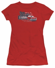 Chevy Juniors Shirt See The USA Chevrolet Red T-Shirt