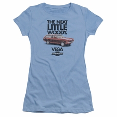 Chevy Juniors Shirt Vega Woody Light Blue T-Shirt