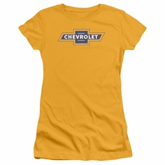 Chevy Juniors Shirt Vintage Bow Tie Gold T-Shirt