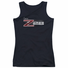 Chevy Juniors Tank Top Camaro Z28 Logo Black Tanktop