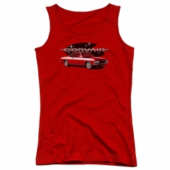 Chevy Juniors Tank Top Corvair Spyda Coupe Red Tanktop