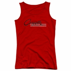 Chevy Juniors Tank Top Retro Stingray Red Tanktop