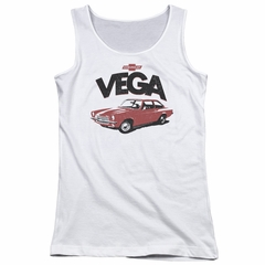 Chevy Juniors Tank Top Vega White Tanktop
