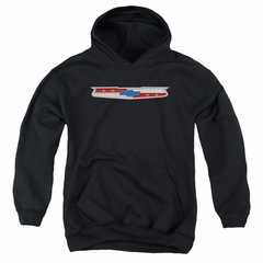 Chevy Kids Hoodie Chevrolet 56 Bel Air Emblem Black Youth Hoody