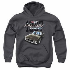 Chevy Kids Hoodie Chevrolet Classic Camaro Charcoal Youth Hoody