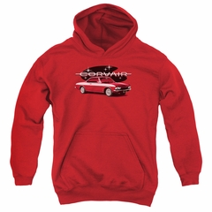 Chevy Kids Hoodie Corvair Spyda Coupe Red Youth Hoody