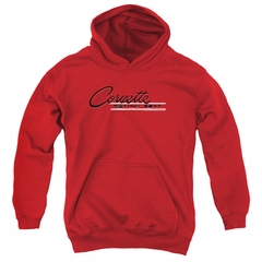 Chevy Kids Hoodie Retro Stingray Red Youth Hoody