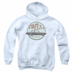 Chevy Kids Hoodie Value White Youth Hoody