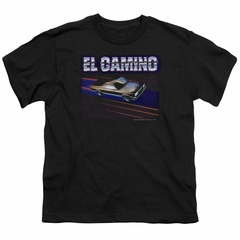 Chevy Kids Shirt 85 El Camino Black T-Shirt