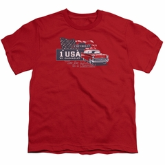 Chevy Kids Shirt See The USA Chevrolet Red T-Shirt