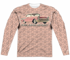 Chevy Long Sleeve Bel Air Sweet Smooth And Sassy Sublimation Shirt Front/Back Print