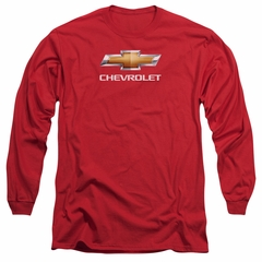 Chevy Long Sleeve Shirt Bow Tie Red Tee T-Shirt
