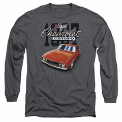 Chevy Long Sleeve Shirt Chevrolet 1967 Red Classic Camaro Charcoal Tee T-Shirt