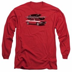 Chevy Long Sleeve Shirt Corvair Spyda Coupe Red Tee T-Shirt