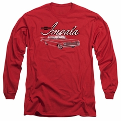 Chevy Long Sleeve Shirt Impala Red Tee T-Shirt