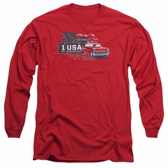 Chevy Long Sleeve Shirt See The USA Chevrolet Red Tee T-Shirt