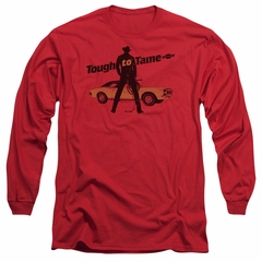 Chevy Long Sleeve Shirt Tough To Tame Red Tee T-Shirt