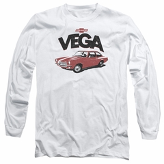 Chevy Long Sleeve Shirt Vega White Tee T-Shirt