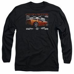 Chevy Long Sleeve Shirt ZO6 checkered Black Tee T-Shirt