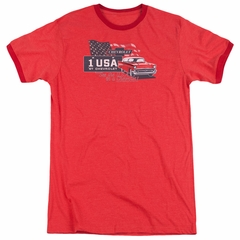 Chevy See The USA Chevrolet Red Ringer Shirt