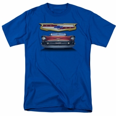 Chevy Shirt 1957 Bel Air Grille Royal Blue T-Shirt