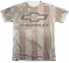 Chevy Shirt American Pride Poly/Cotton Sublimation Shirt
