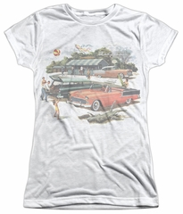 Chevy Shirt Bel Air Washed Out Classic Cars Sublimation Juniors Shirt