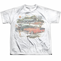 Chevy Shirt Bel Air Washed Out Classic Cars Sublimation Youth Shirt