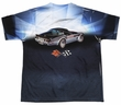 Chevy Shirt Blue Corvette Vette Check Flag Sublimation Youth Shirt Front/Back Print