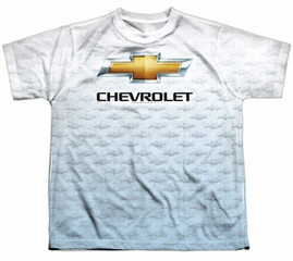 Chevy Shirt Chevrolet Logo 2 Sublimation Youth Shirt Front/Back Print