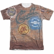Chevy Shirt Chevrolet Shop Wall Poly/Cotton Sublimation Shirt Front/Back Print