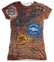 Chevy Shirt Chevrolet Shop Wall Sublimation Juniors Shirt