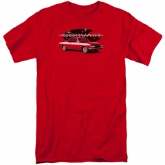 Chevy Shirt Corvair Spyda Coupe Red Tall T-Shirt